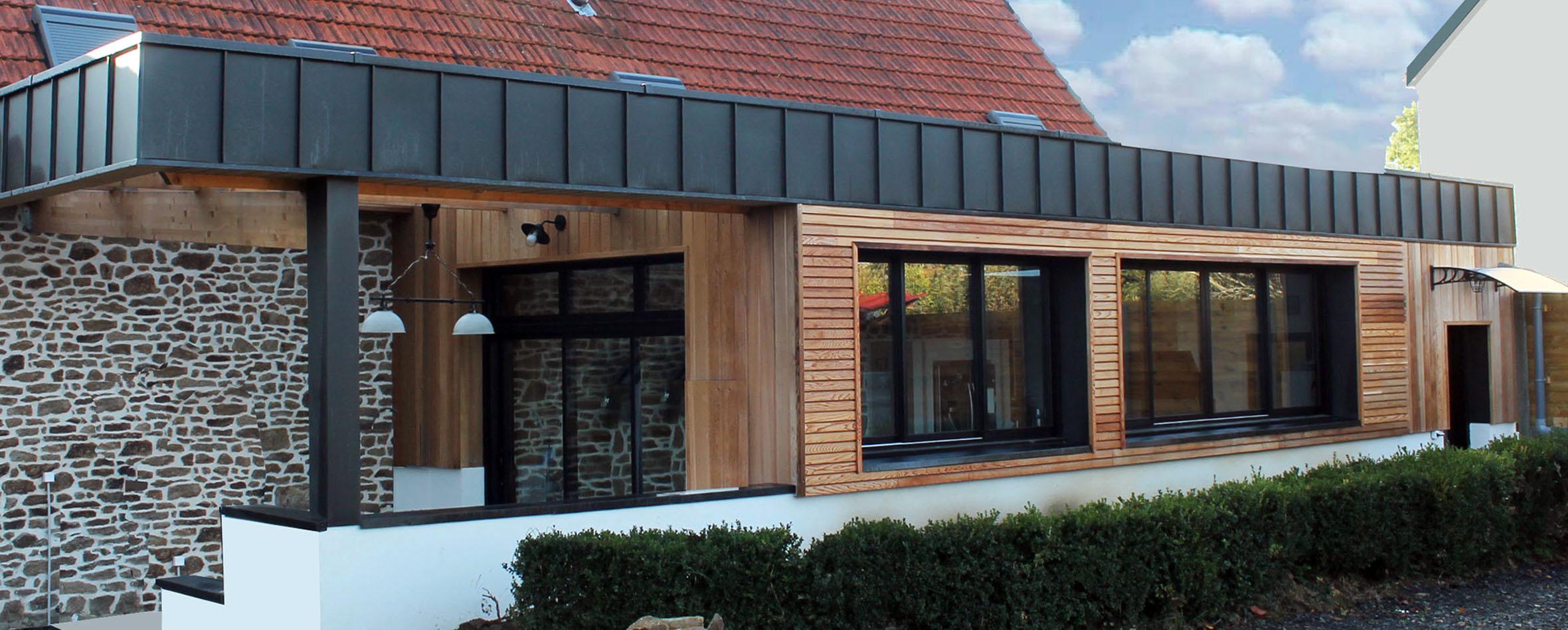 Devis Extension Maison  Seynod → Agrandissement Bois, Acier, Parpaing